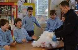 Demo Day preparation: dry ice in the classroom