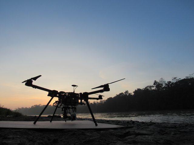 Jungle drone at sunrise (Photo credit - Claire Burke)