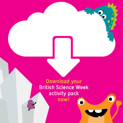 Promotional images for British Science Week activity packs to be used on Instagram