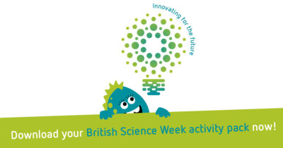 Promotional images for British Science Week activity packs to be used on Twitter or Facebook